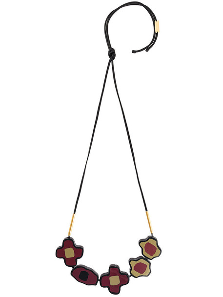 MARNI women necklace floral red jewels