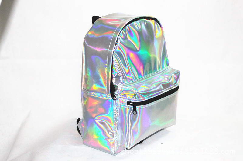 2014 New Popular Metal Hologram Laser Bag Super Quality Women's Laser Silver Backpack Student's School Backpack-in Casual Daypacks from Luggage & Bags on Aliexpress.com | Alibaba Group