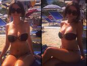 swimwear,black bikini,bandeau bikini,hot,seductive