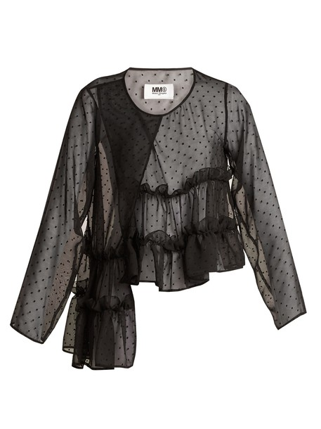 Mm6 Maison Margiela top chiffon black