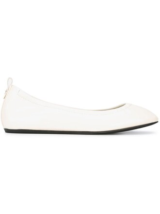 ballet women classic flats ballet flats leather white shoes