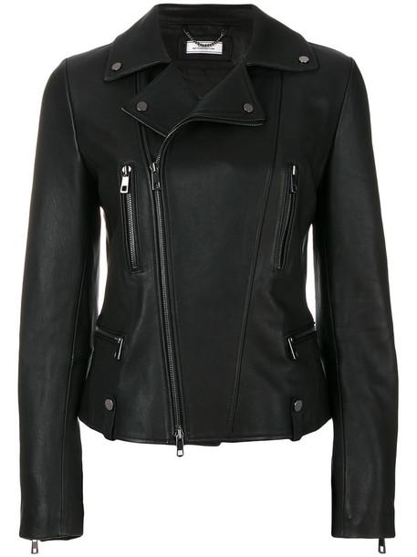 Desa Collection jacket biker jacket women classic leather black
