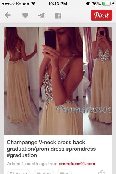 dress beige dress prom dress sparkly dress beige promdresses promdress2014 sparkles backless prom dress prom dresses /graduation dress .party dress openbackpromdress