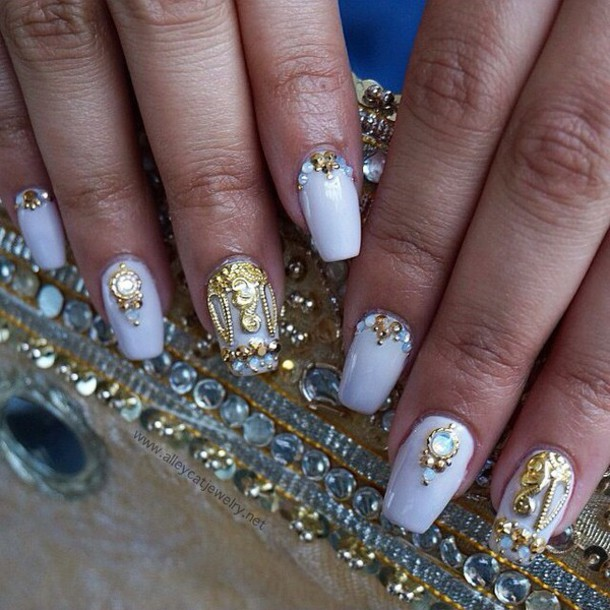 nail accessories, nails, crown, gold, handmade, nail accessories ...