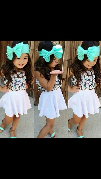hair accessories kids fashion hair bow mint