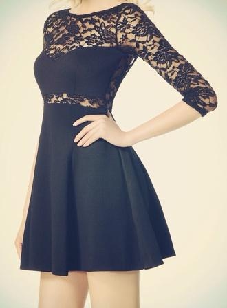 black dentelle dress little black dress