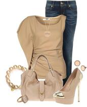 jeans,clothes,blouse,shoes,tan,beautiful