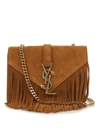 cross bag suede tan