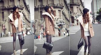 jacket coat beige jacket winter coat winter outfits