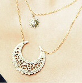 jewels moon sun necklace