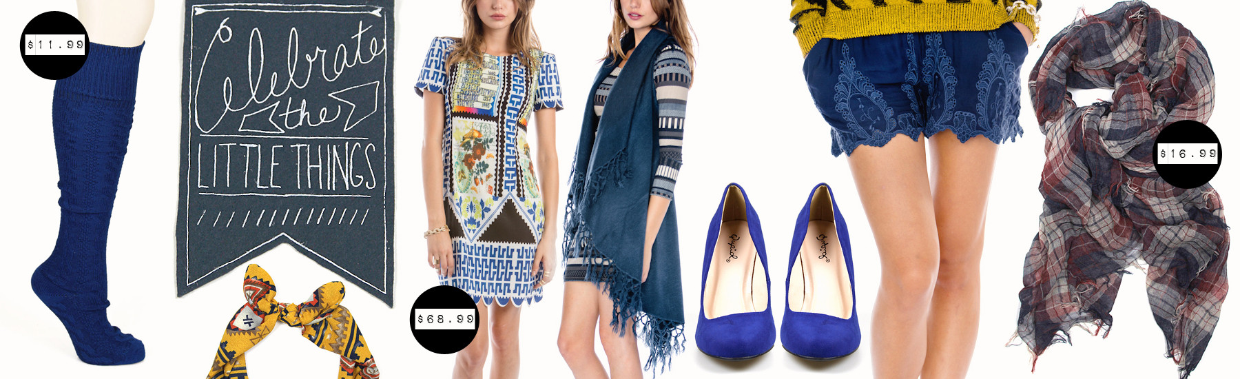 Chic and sweet clothing and accessories for women