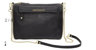 bag armani exchange armani shoulder bag straps good shoulder black leather gol
