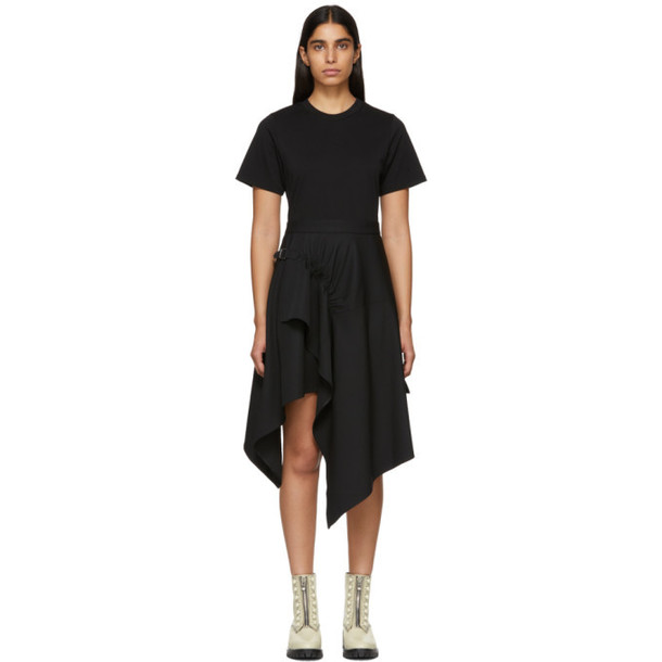 3.1 Phillip Lim Black Shirt Handkerchief Dress