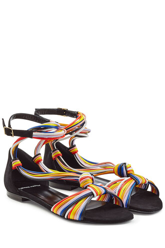 sandals leather sandals leather multicolor shoes