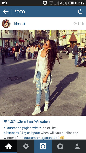 shoes white sneakers gold details high top sneakers white shoes cardigan jeans