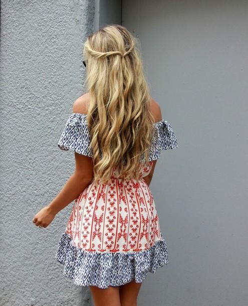 dress summer dress off the shoulder dress mini dress