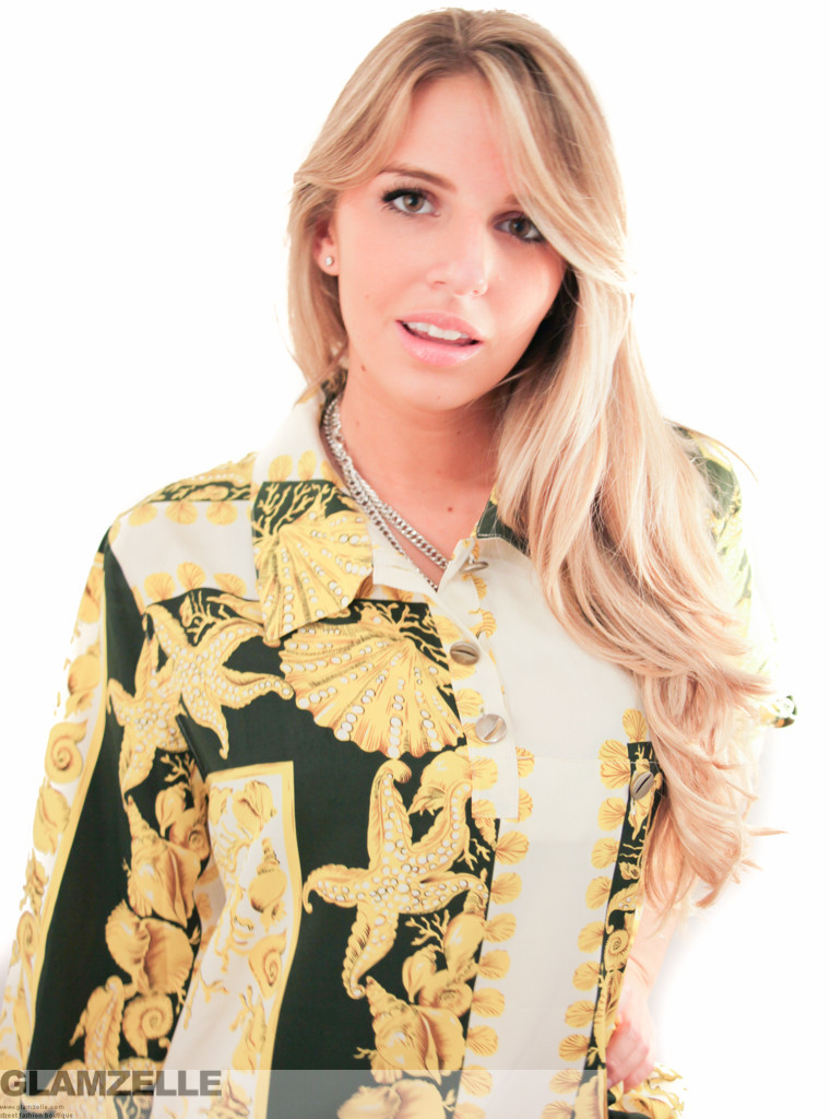 Exclusive baroque gold shells printed blouse – glamzelle