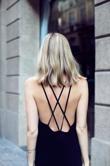 backless black black dresses black prom dress