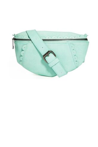 bag pastel green pastel bag belt bag scalloped