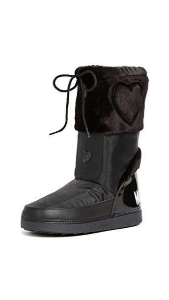 Moschino love ankle boots black shoes