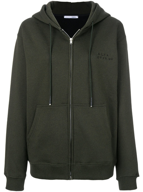 Alyx hoodie zip women cotton green sweater