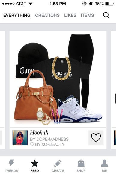 tights shoes bag jewels t-shirt beanie