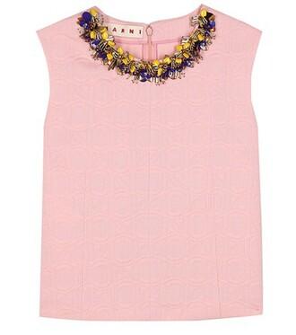 top embellished top embellished pink