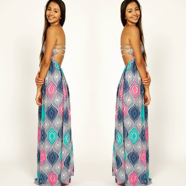 Long Open Back Summer Dresses