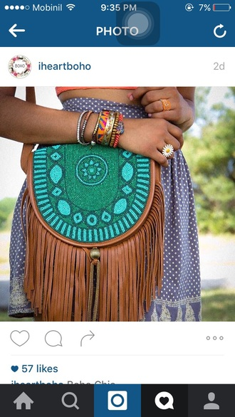 bag boho bohemian leather boho bag gypsy hippie