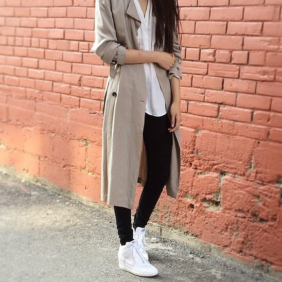 coat coats beige jacket fall outfits trench coat fall clothes winter outfits winter jacket winterwear neutral shoes