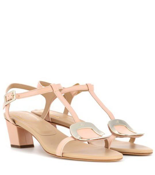 Roger Vivier sandals leather sandals leather beige shoes