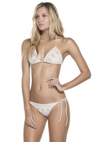 swimwear adjustable bikini top suede swimwear agua bendita adjustable side straps bikiniluxe