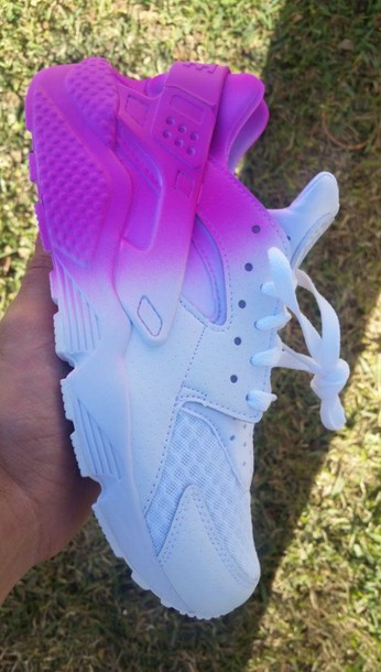 brand new 3f3c8 f15fc shoes nike shoes huarache ombre purple nike nike running shoes customized nike  huaraches ombre nike huarache