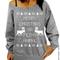 Merry christmas ya filthy animal – slouchy oversized sweatshirt