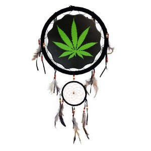 "13"" marijuana leaf dream catcher"