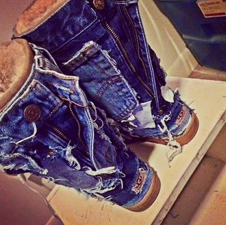 shoes blue jean ugg boots