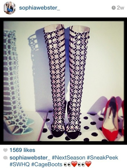 shoes jeffrey campbell thigh high boots over knee high boots