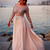 2016 Pink Illusion Evening Dress Scoop Neck Long Sleeves Sequin Sweep Train Party Prom Gowns robe de soiree Plus Size-in Evening Dresses from Weddings & Events on Aliexpress.com | Alibaba Group