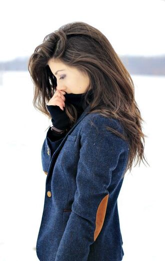 jacket navy blazer elbow patches
