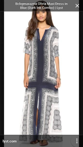 dress olivia blue bcbgmaxazria