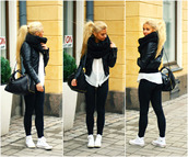 jacket,black,leather,skinny,jeans,scarf,shoes,jewels,home accessory