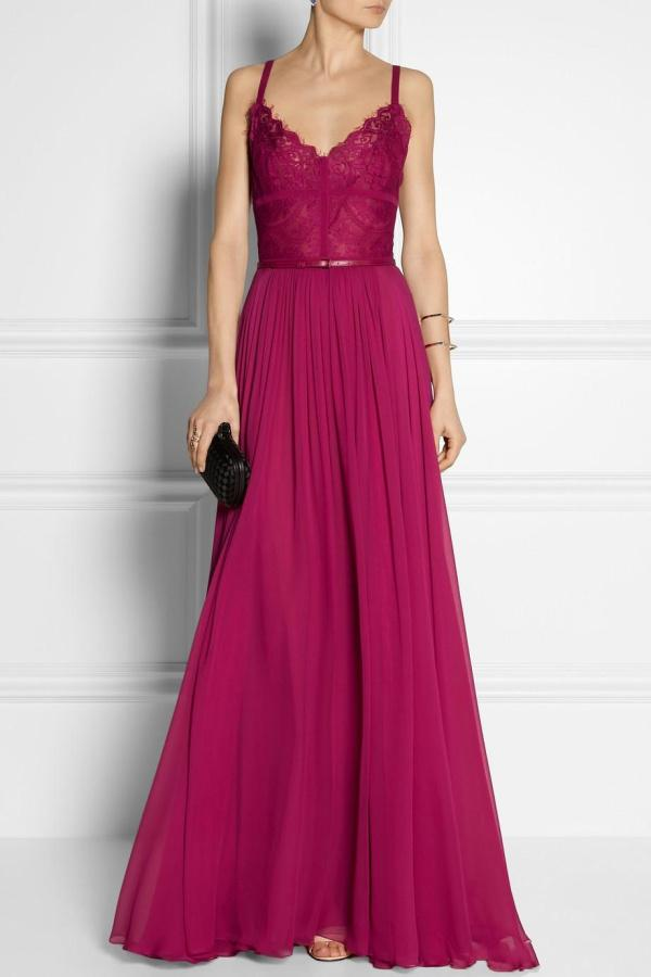 Wholesale Elie Saab Dress - Buy Vintage Grape A Line Spaghetti Straps Evening Dresses Applique Lace Floor Length Backless Prom Party Gowns 2014 Elie Saab Dress, $100.53 | DHgate