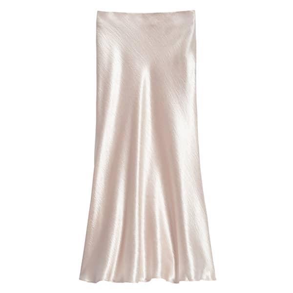 Banana Republic Women's Satin Midi Slip Skirt Champagne Regular Size 10