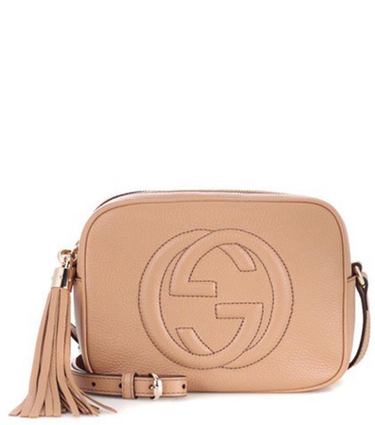 Gucci Soho Disco leather shoulder bag in neutrals