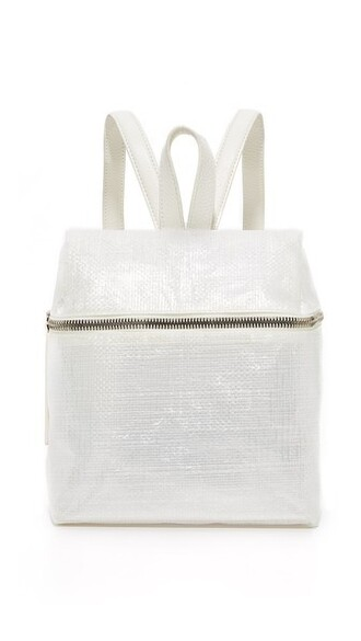 backpack white bag