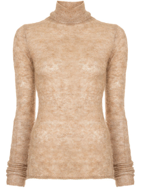 Estnation top knitted top women brown