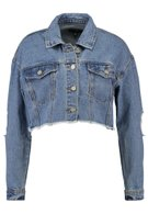 CROPPED TRUCKER JACKET - Denim jacket - stonewash @ Zalando.co.uk