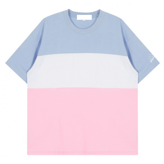 BOOGZEL | Pastel T-Shirt in Colour Block