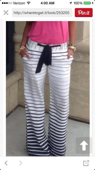 pants blue and white striped  sweats