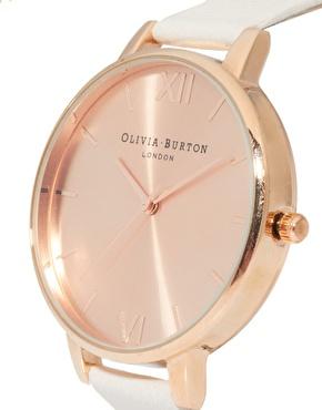 Olivia Burton   Olivia Burton Big Dial Rose Gold Watch at ASOS